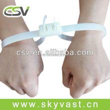 Varieties black double lockiing handucffs white 12*675mm police nylon handcuffs