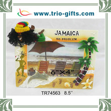 Polyresin Jamaica rasta picture frame with palm tree decorative