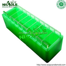silicone rubber toast mold loaf soap molds with compartment D0008