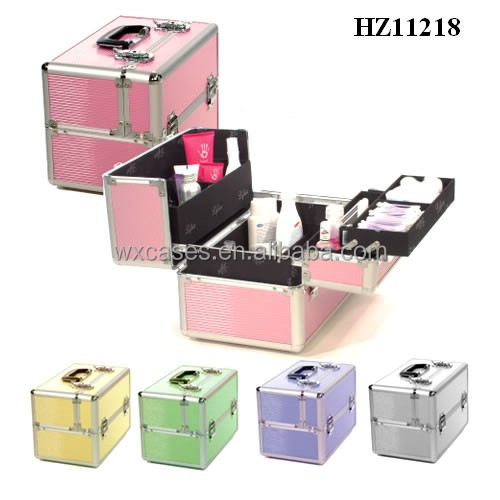 hot sale aluminum cosmetic case with multi colors high quality