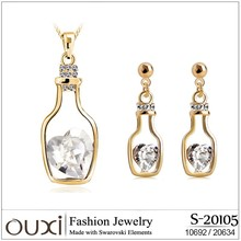OUXI 2015 OUXI 2015 Bottle Jewellery Set Gold Filled made with Swarovski Elements S-20105
