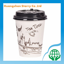 PLA Hot/Cold Drink Disposable Paper Cup with Lid