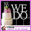 "Stunning Diamante crystal ""WE DO""shape wedding cake topper for sale"