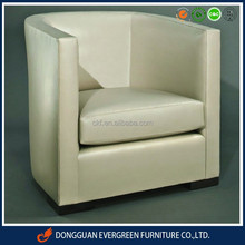 wood PU upholstery modern tub chair /cafe chair / arm chair for club for restaurant for hotel room EAC15804