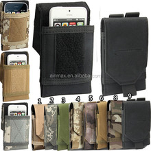 Universal Army Camo Bag For Mobile Phone Belt Loop Hook Cover Case Pouch Holster