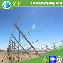 Factory price hot dipped galvanized solar stand and solar panel bracket