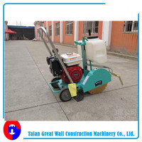 Asphalt road cutter saw machine for concrete