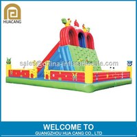 Hot sale giant Inflatable fun city with slide and obstacle for kids