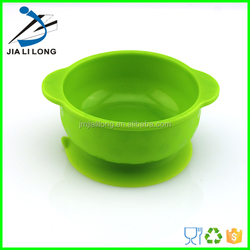 Food grade silicone baby dinner soup suction bowl with spoon