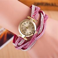 Lastest colorful wrap bracelet watch