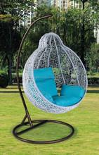 UGO Furniture Moscow Cindy Garden white PE Rattan wicker Hanging swing chair UGO-G051