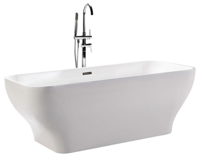 Acrylic bathtub and square freestanding bathtubs india for Best freestanding tub material