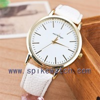 White color factory custom made best quality cheapest promotional watch lady