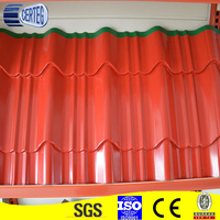 0.6 mm thick color coated wholesale gi corrugated metal sheet for roof price
