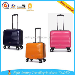 pink orange deep blue PC 16'' 18'' luggage for lady