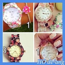 HOGIFT New Fashion Birthday Gift Flower Watch/Sexy style watch