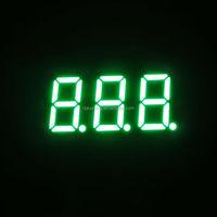 Mini 0.36 inch green three 3 triple digit 7segment led digital display