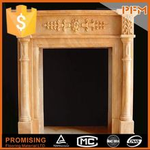 China manufacturer natural stonehand-craved hunan white marble fireplace from china