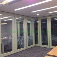 Meeting Room Framed Frosted Glass Folding Door