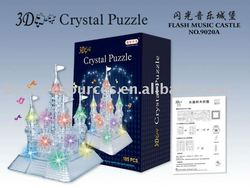 3D puzzle musical and flashing castle