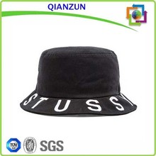 wholesale cheap blank/custom dark black bucket hat/cap