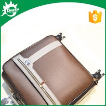 """""""vintage men's travel bag and trolley luggage suitcase with 4 spinner universal wheels for travelling or business trip in airpor"""