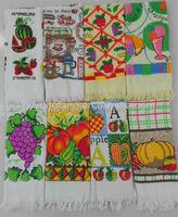 christmas wholesale tea towel, tea towel print with low price, pure cotton happy farm printed tea towel kitchen towel wholesale