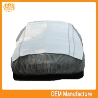 Aluminum film + EPE & non-woven inflatable car cover hail flag easily cleaned car seat cover at factory price