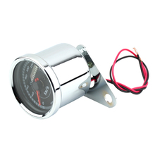 Motorcycle Digital Speedometer Reset Double Color LED Light Universal Odometer Motorcycle Speedometer Meter