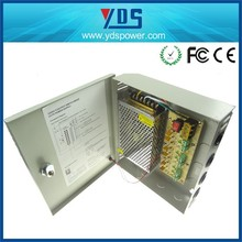 AC/DC12V 5A SMPS Multiple 6 channel output CCTV camera switching power supply distribution box
