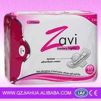 Day used Ultra thin and soft Women sanitary Towels napkins Lady Pads China Manufacturer