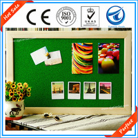 Hot sale!Decorative wall mounted Aluminum,wooden frame fabric felt pin and cork soft notice memo bulletin boards for schools