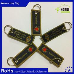 Embroidery Keychain/Key tag /Key Fob,Embroidery Fabric Key Chain