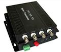 4 de vídeo positiva + 1 vuelta de datos de fibra óptica Video Converter / 4 V 1D de fibra de vídeo Digital convertidor