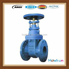 DI body non-rising stem resilient soft seated dn150 gate valve