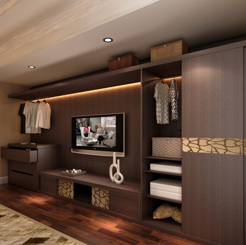 Melamine Board Wardrobe With Tv Cabinet Living Room ...