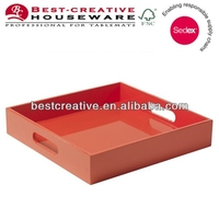 bed serving wooden coin tray