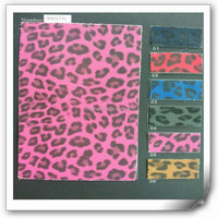 Hot Selling Leopard Fabric for making shoes from china manufacturer