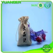 2014 nueva moda de yute con cordón de la bolsa de yute regalos de la bolsa de yute con cordón bolsa fabricante y exportador