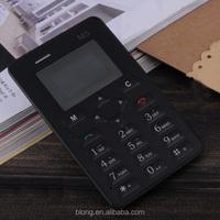 Ultra Slim Super Thin Credit Card Size Mini Cell Phone 2G GSM Mobile Phone Unlocked (Black)
