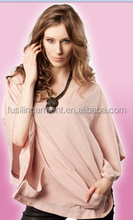 Custom heavy cotton brushed plain easy wear fashion nursing cover top