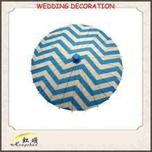 Turquesa china chevron parasol de papel paraguas venta al por mayor