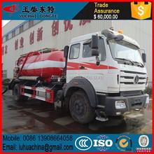 Factory selling china North benze 10cbm vacuum sewage suction truck