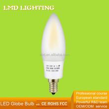 Fcc ce gs 360 gradi 120v 1.8w c32 led filamento 2700k smerigliato ceri led