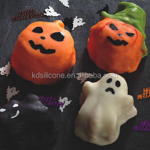 Silicone pumpkin Halloween Cake Candy pastry Biscuits Ice Mold Jelly Baking pan pumpkin shape silicone cake mold