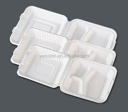 disposable Sugarcane pulp biodegradable container