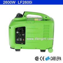 2600W rated power EPA CARB CSA CE GS certification gasoline inverter portable generator LF2600i
