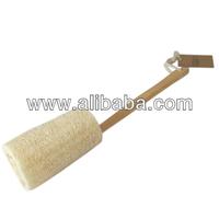 Long Wooden Handled Loofah Back Shower and Bath Scrub