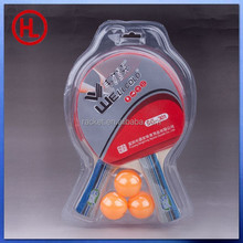 cheap high quality ping pong table tennis racket with 3 table tennis balls set wholesale