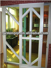 fixed glass aluminium sliding door for restaurant